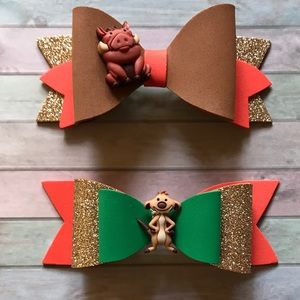 Handmade 5 inches bows, made of foam.